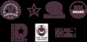 Javo Beverage Company's Capabilities: Rain Forest Alliance, Kosher, Non-GMO, Fair Trade, Organic